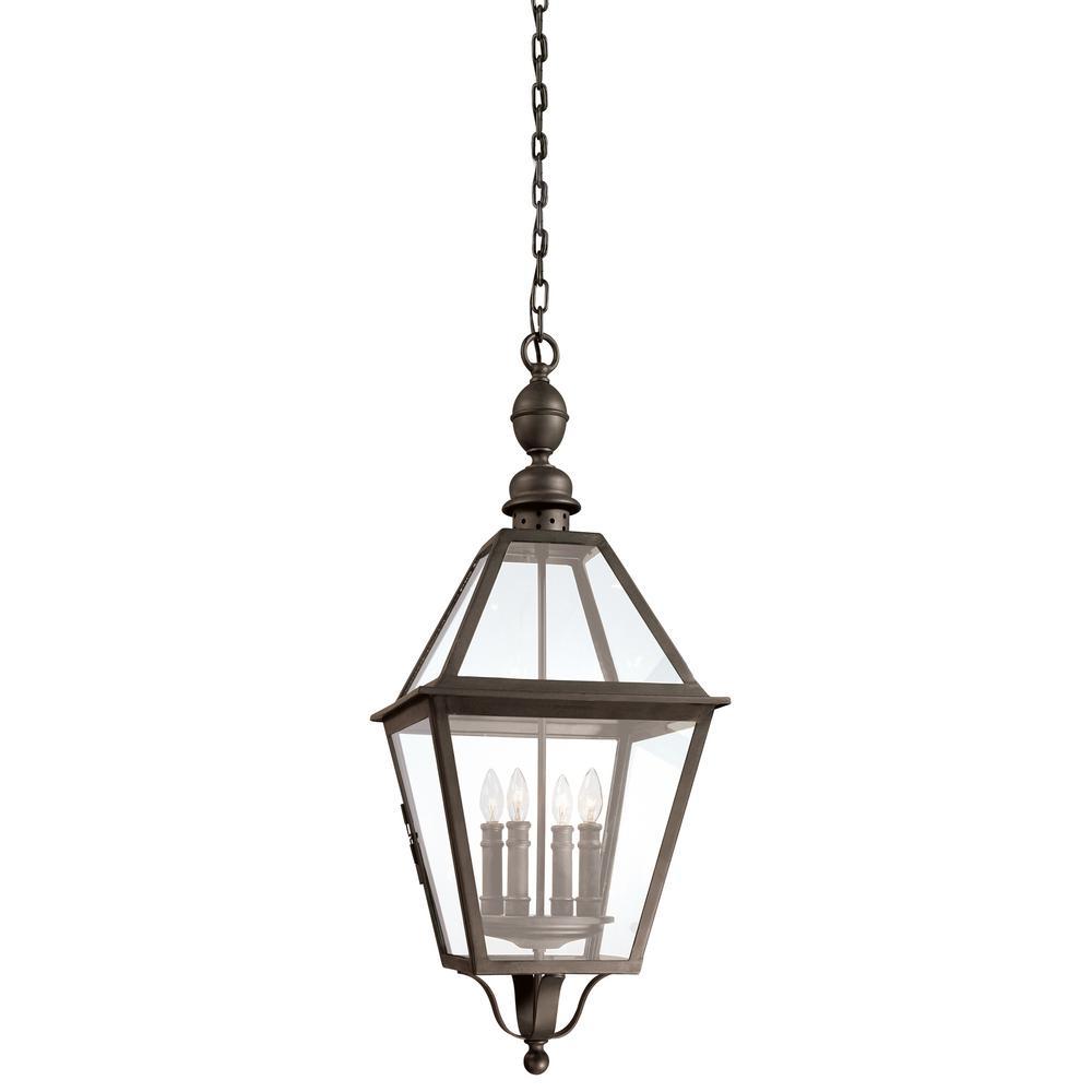 Troy Lighting Townsend 4-Light Natural Bronze Outdoor Pendant