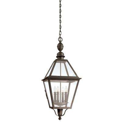 Townsend 4-Light Natural Bronze Outdoor Pendant