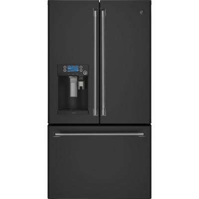 27.8 cu. ft. Smart French-Door Refrigerator with WiFi in Black Slate, Fingerprint Resistant