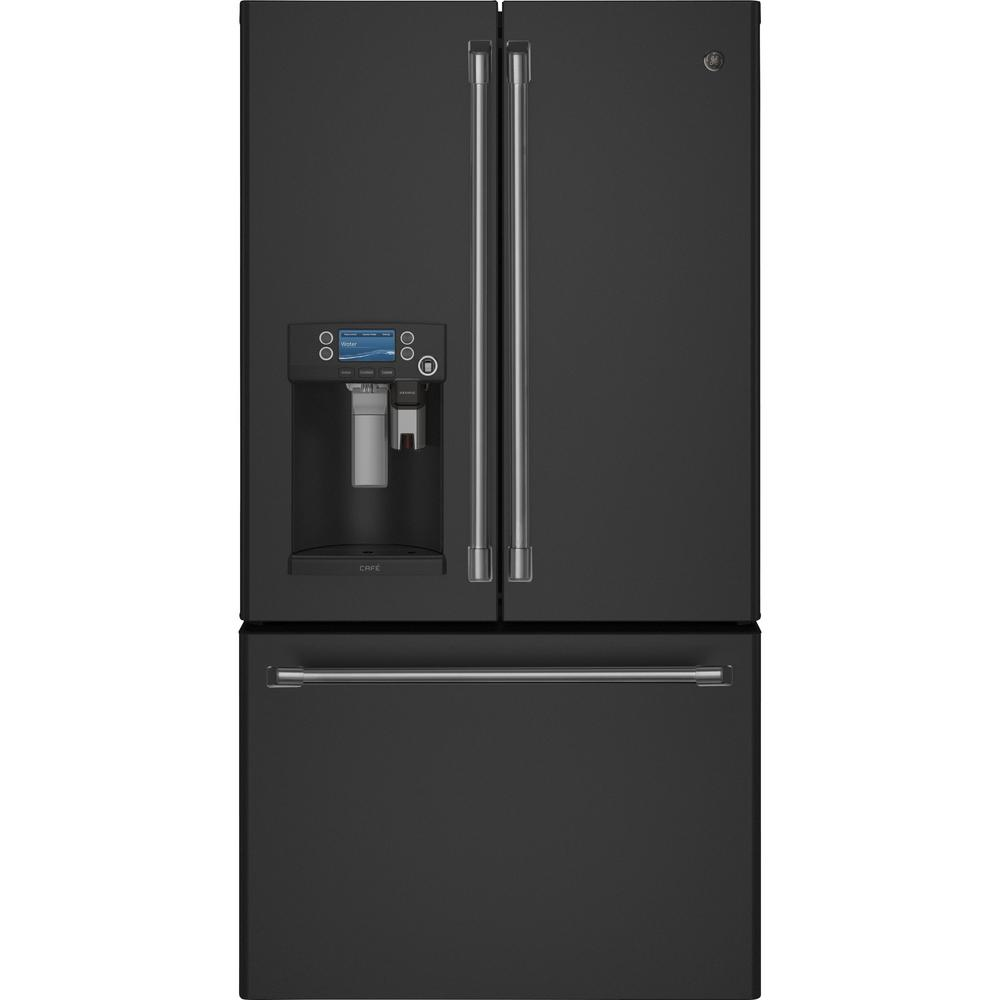 GE Cafe 27.8 cu. ft. French Door Refrigerator with Hot Water-CFE28TSHSS -  The Home Depot
