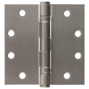 Parker Self Closing Slim Spring Hinges 4-1//2 X 4-1//2 For Medium And Heavyweight Metal Or Wood Doors In Satin Chrome Finish Set Of 3 Hinges S