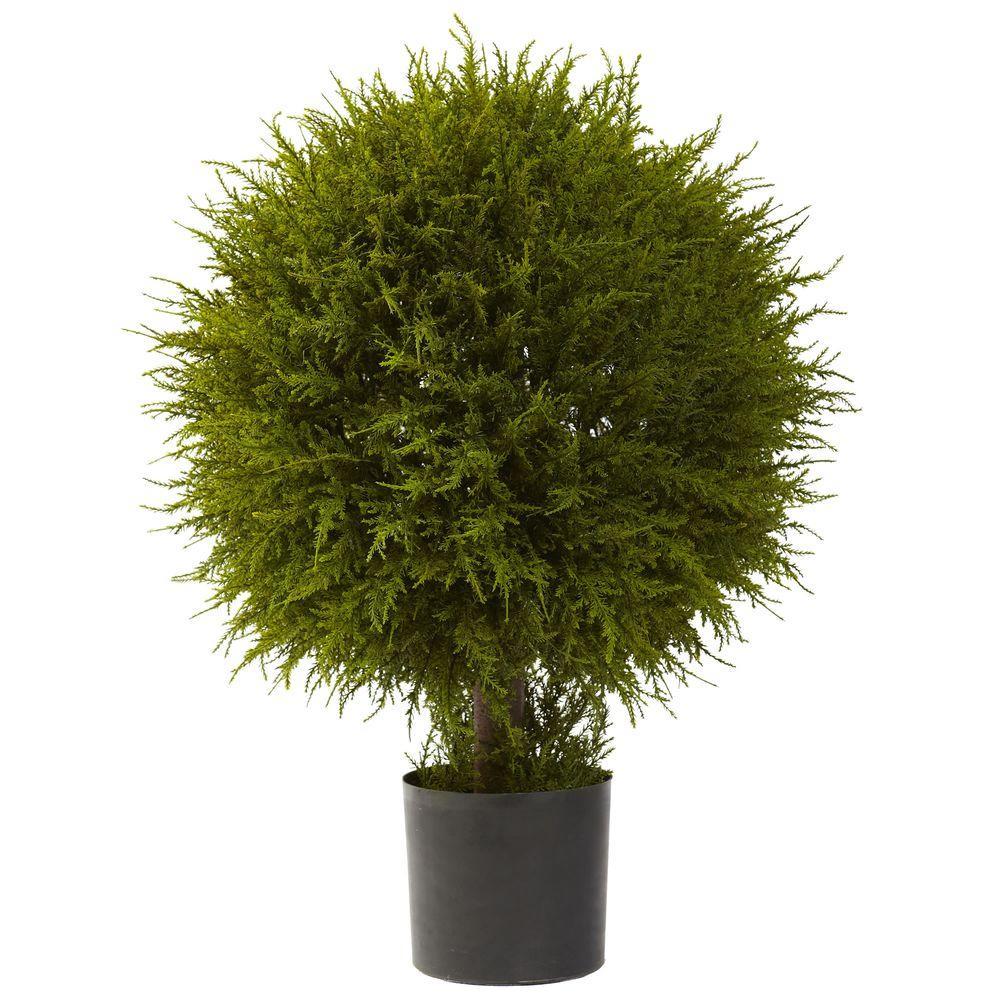 32 in. Cedar Ball Topiary