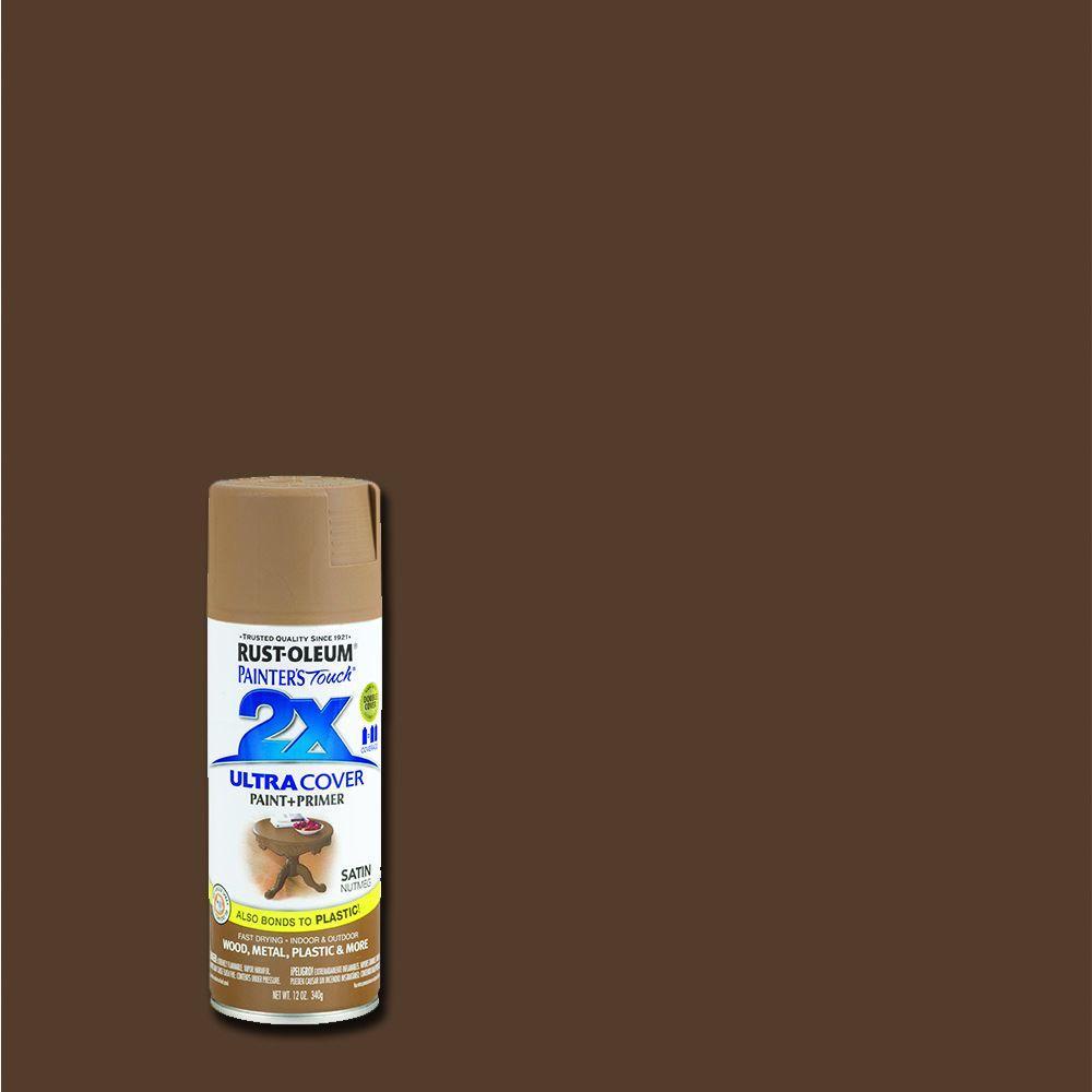 Rust-Oleum Painter's Touch 2X 12 oz. Satin Nutmeg General Purpose Spray Paint