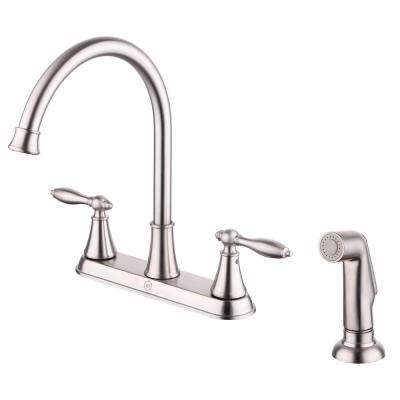 Winchester 2-Handle Kitchen Faucet with Side Spray in Brushed Nickel