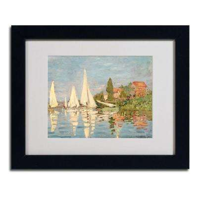 11 in. x 14 in. Regatta at Argenteuil Matted Black Framed Wall Art