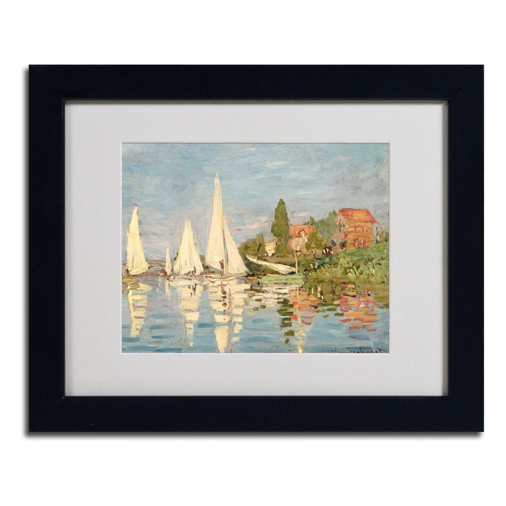 11 in. x 14 in. Regatta at Argenteuil Matted Black Framed
