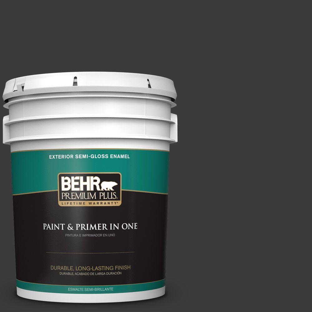 BEHR Premium Plus 5-gal. #770F-7 Beluga Semi-Gloss Enamel Exterior Paint