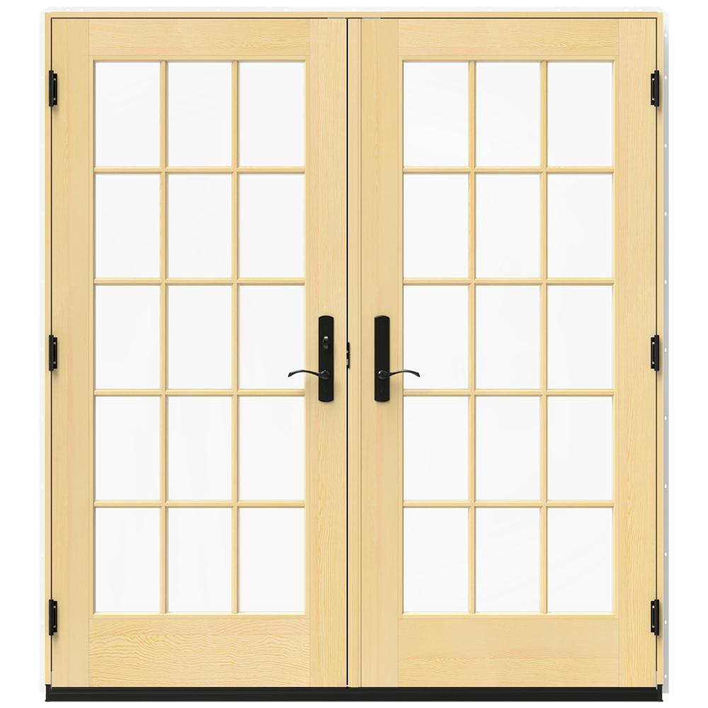 Jeld wen in x 79 5 in w 4500 brilliant white right for Wood french patio doors
