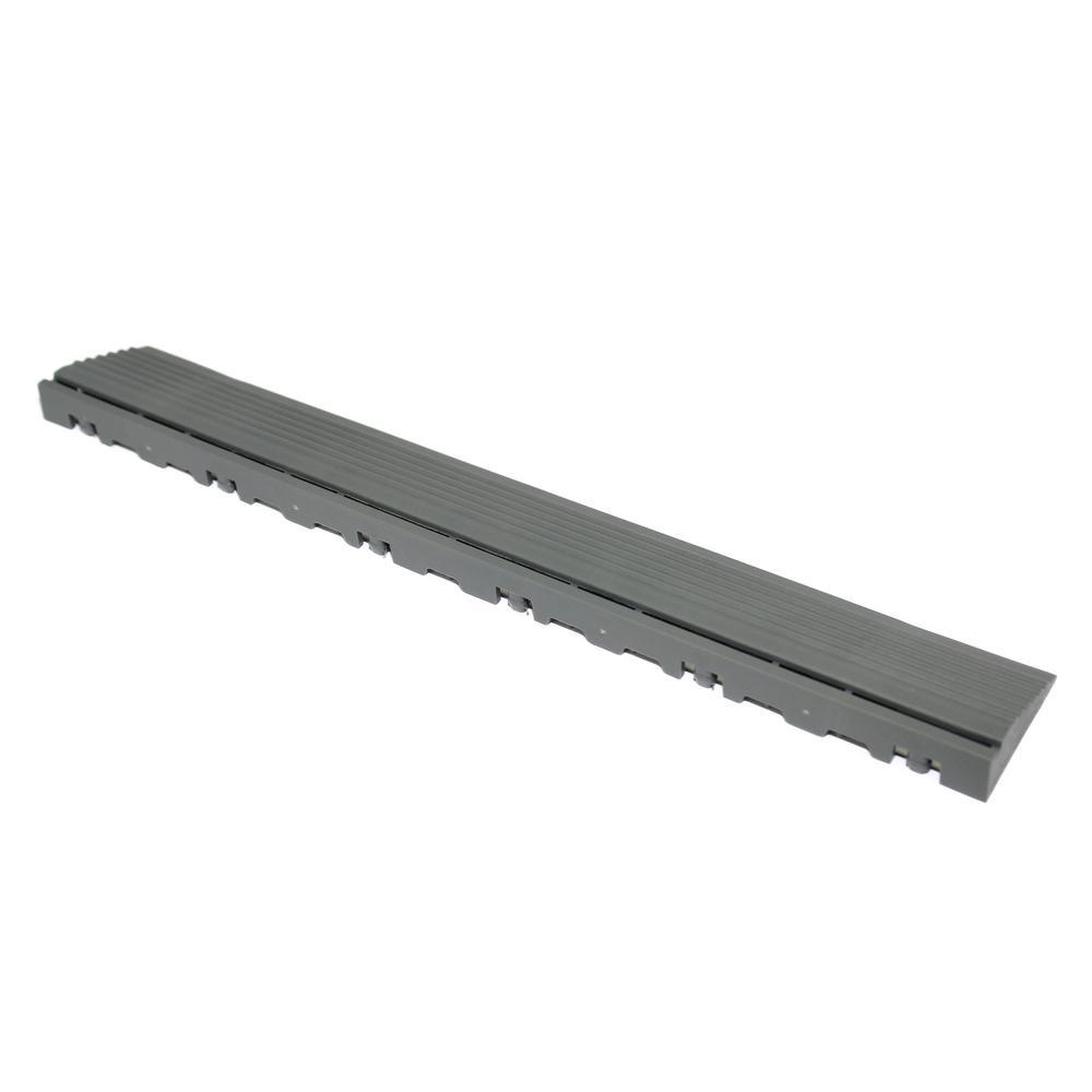 15.75 in. Slate Grey Pegged Edging for 15.75 in. Swisstrax Modular Tile Flooring (2-Pack)