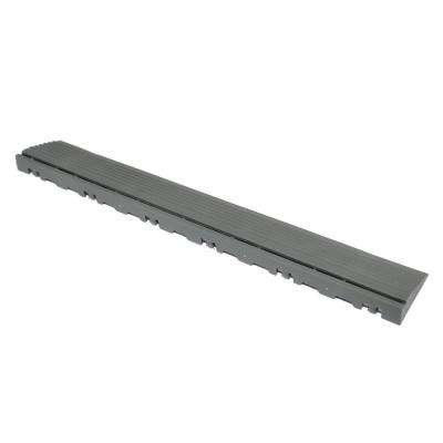 15.75 in. Slate Grey Pegged Edging for 15.75 in. Swisstrax Modular Tile Flooring (2-Pack)