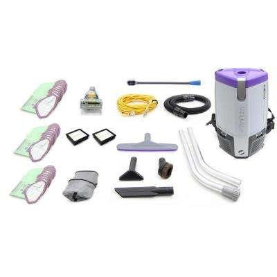 Fully Loaded Proteam Super Coach Pro 6 Qt. Commercial Backpack Vacuum Cleaner