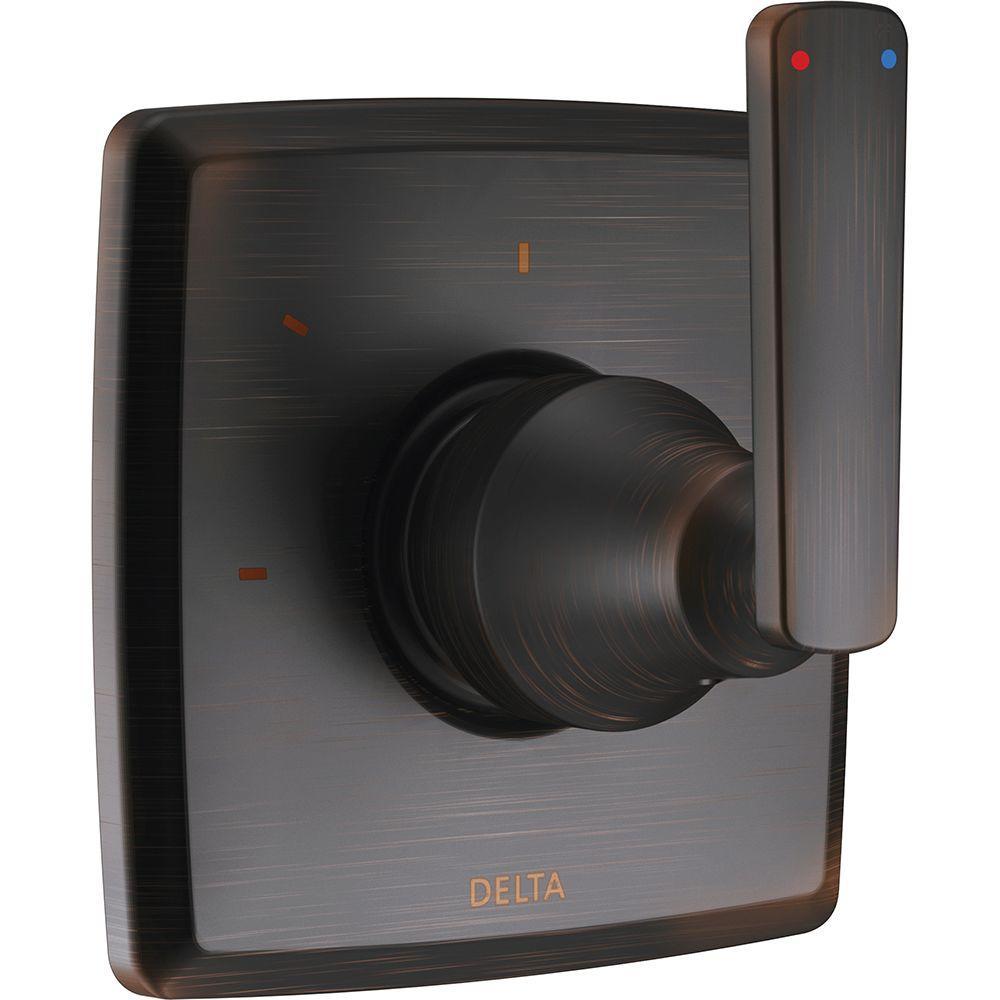 Delta Ashlyn 1-Handle 3-Setting Diverter Valve Trim Kit in Venetian ...