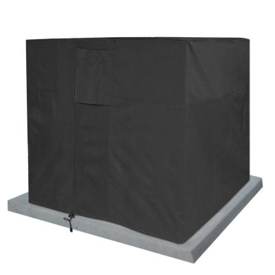 Black Air Condition Weatherproof Heavy-Duty Protector Cover