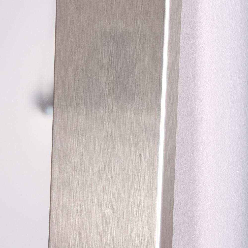 Modern Silver 3 Panel Dressing Framed