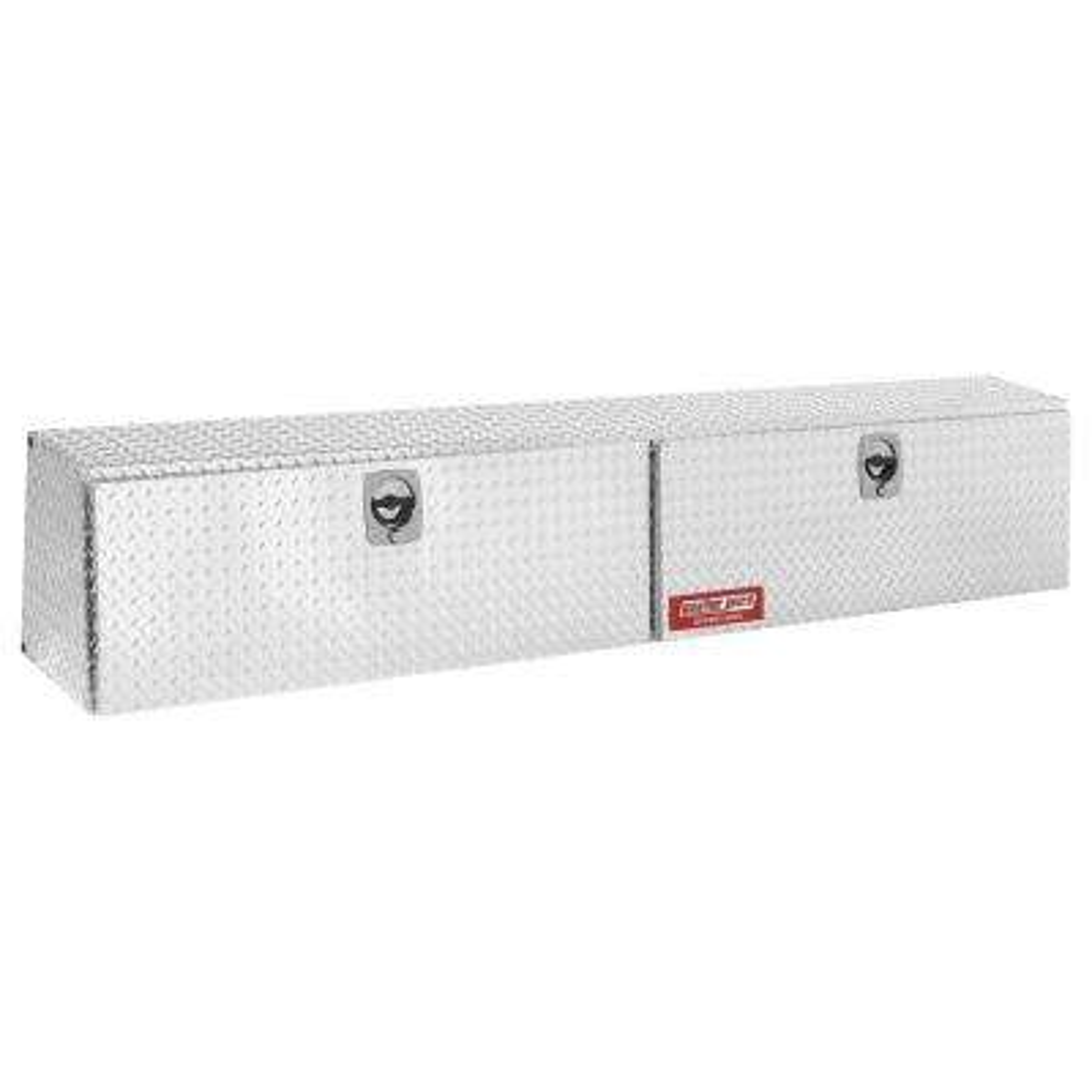 90.13 Diamond Plate Aluminum Full Size Top Mount Truck Tool Box