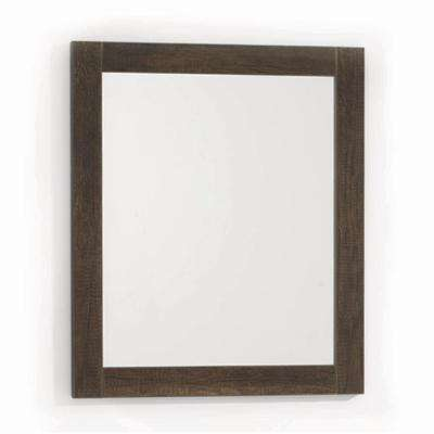 Massa 23.62 in. x 27.56 in. Framed Wall Mirror in Bronze (Set of 2 Mirrors)