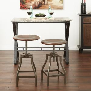 Swivel Stool In Walnut