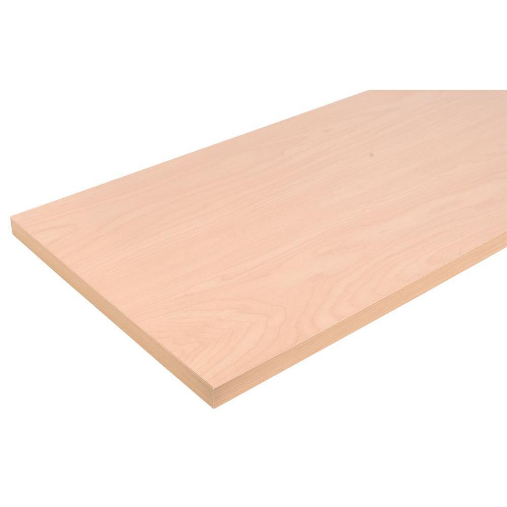 10 in. x 36 in. Beechwood Laminated Wood Shelf