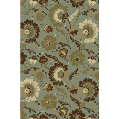 Hamam Collection Green 3 ft. x 5 ft. Area Rug