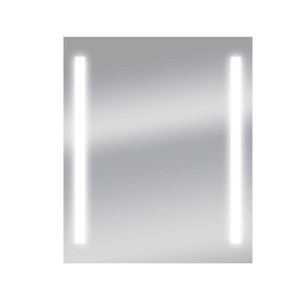 Zadro Fogless Led Lighted Shower Mirror In Silver Z850