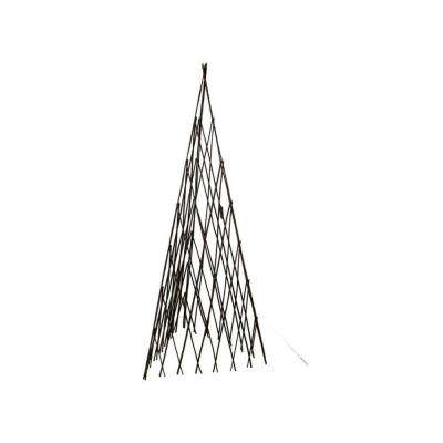 12 in. W x 72 in. H Master Garden Products Willow Expandable Trellis Teepee
