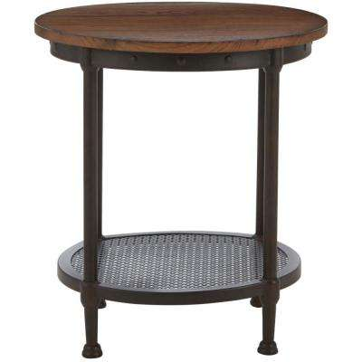 Gentry Distressed Oak End Table