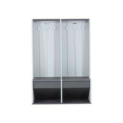 5 ft. x 1.5 ft. x 3.75 ft. Home and Garage Storage Locker System in Gray