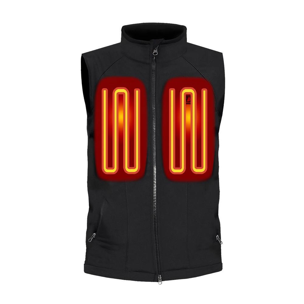 Men's Large Black Softshell 5-Volt Battery Heated Vest