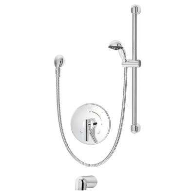 Dia Single-Handle 1-Spray Tub and Shower Faucet in Chrome (Valve Included)