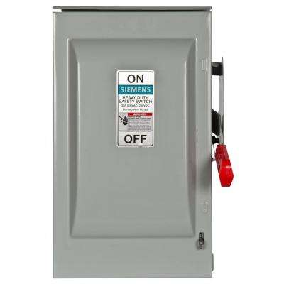 Heavy Duty 30 Amp 600-Volt 3-Pole Outdoor Oversized Fusible Safety Switch