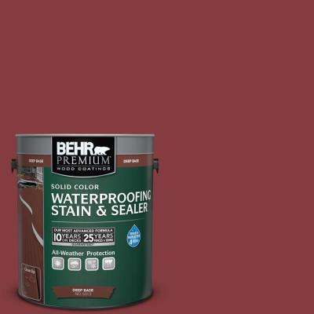 1 gal. #M140-7 Dark Crimson Solid Waterproofing Stain and Sealer