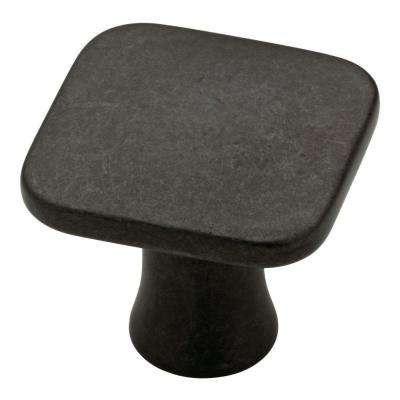 Lindley 1-1/8 in. (28mm) Soft Iron Square Cabinet Knob
