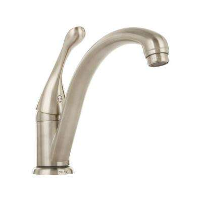 Collins Lever Single-Handle Standard Kitchen Faucet in Stainless