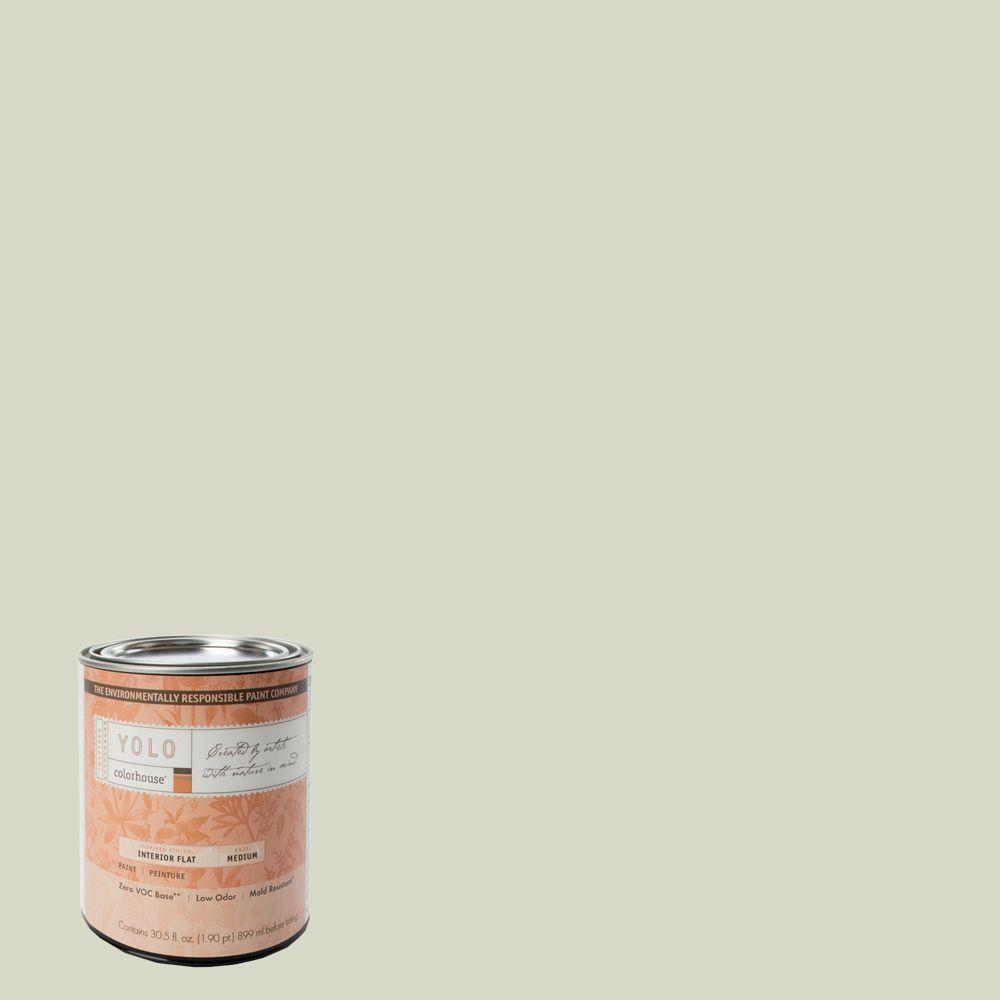 YOLO Colorhouse 1-Qt. Bisque .05 Flat Interior Paint-DISCONTINUED