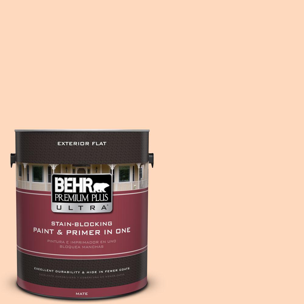 BEHR Premium Plus Ultra 1-gal. #270C-2 Shrimp Cocktail Flat Exterior Paint