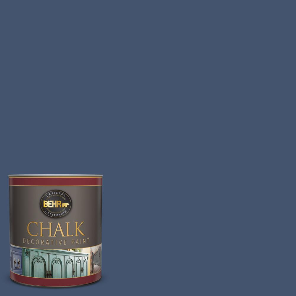 BEHR 1-qt. #BCP38 Timeless Blue Interior Chalk Finish Paint