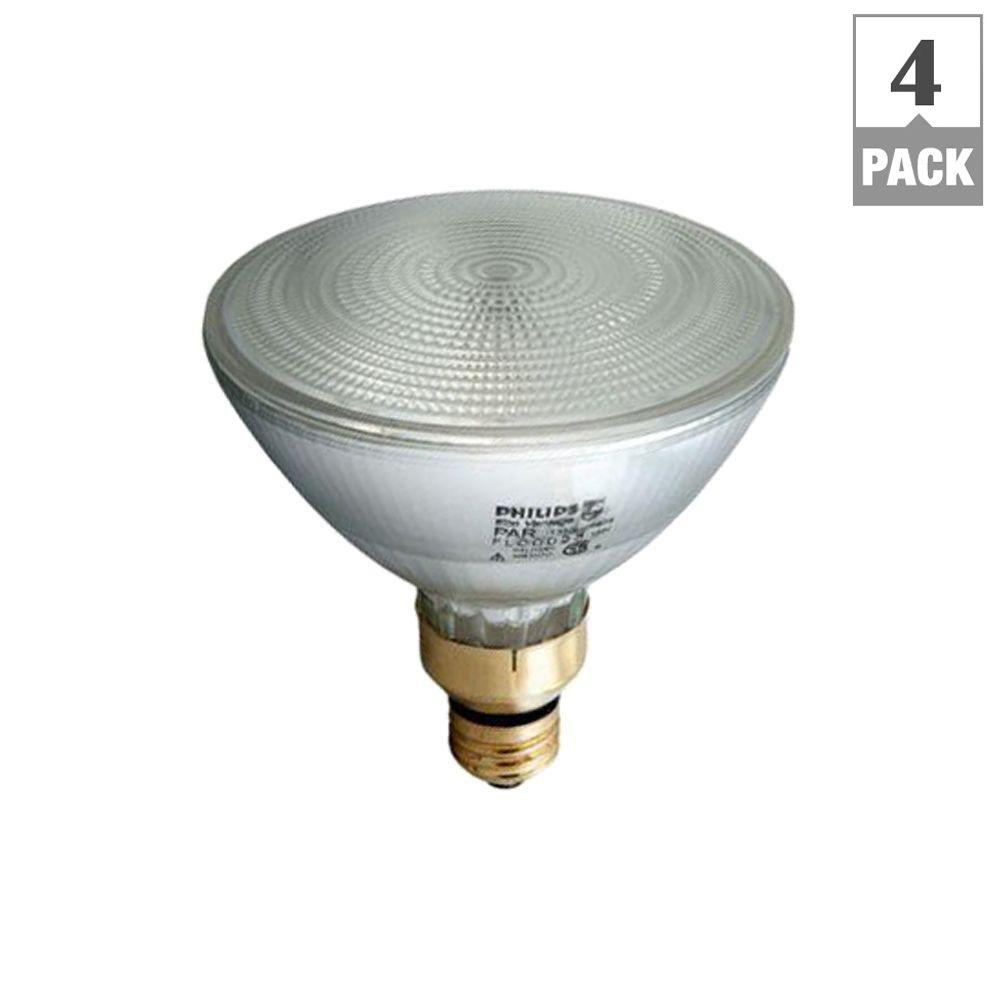 EcoVantage 90W Equivalent Halogen PAR38 Indoor/Outdoor Dimmable Floodlight Bulbs (4-Pack)