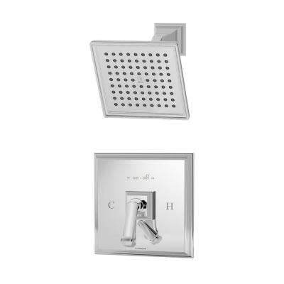 Oxford 1-Spray Single-Handle Shower Faucet in Chrome (Valve Included)