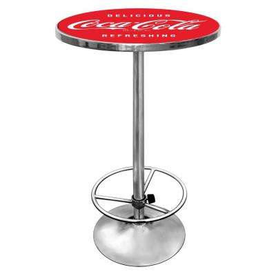 Coca-Cola Vintage Chrome Pub/Bar Table