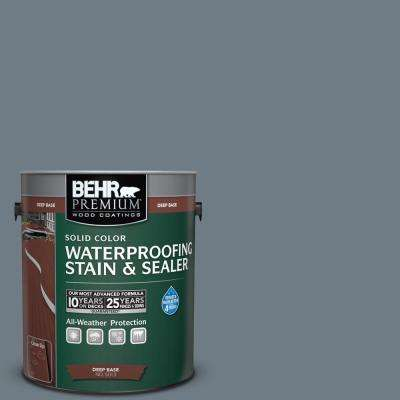 1 gal. #N490-5 Charcoal Blue Solid Waterproofing Stain and Sealer
