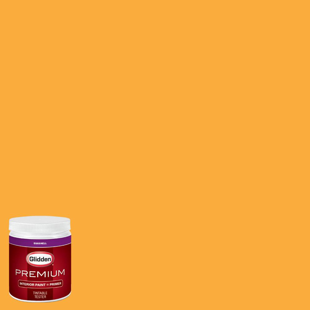 Glidden Premium 8 oz. #wnba-133B Tulsa Shock Gold Eggshell Interior Paint with Primer