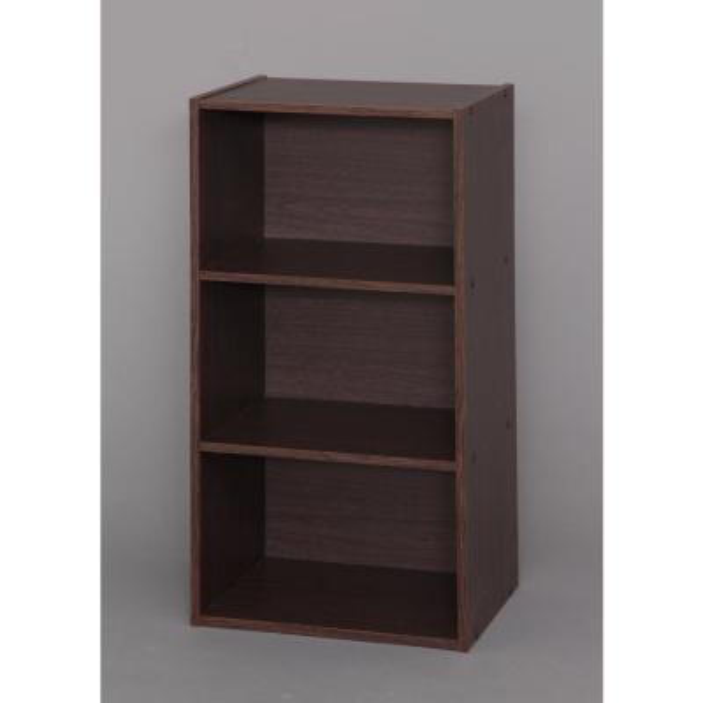 Brown Oak 3-Cube Modular Storage Box Waku Series