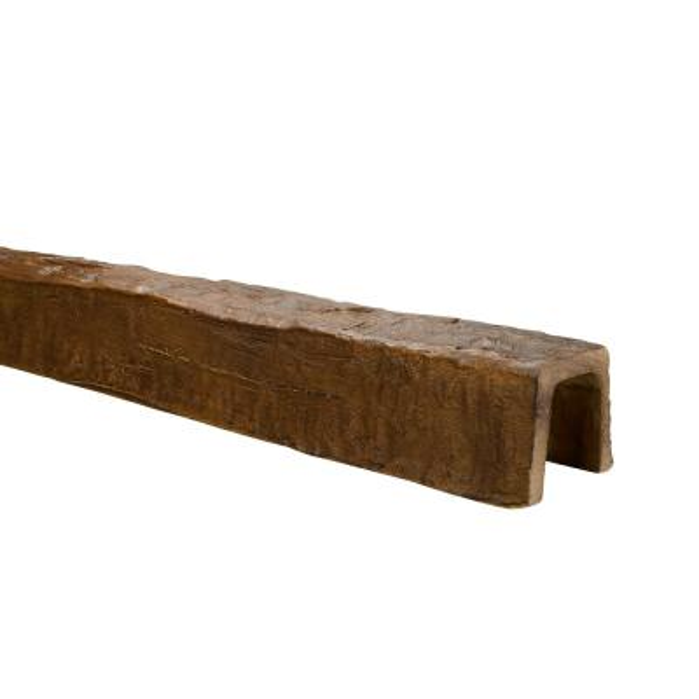5 in. x 5 in. x 13 ft. Medium Oak Hand Hewn Faux Wood Beam