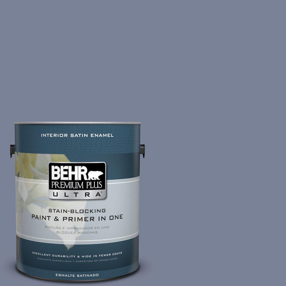 BEHR Premium Plus Ultra 1-Gal. #PPU15-7 Tranquil Pond Satin Enamel Interior Paint