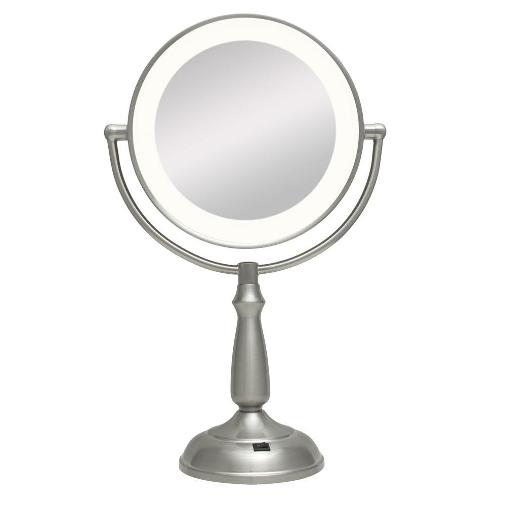 Zadro Ultra Bright LED Lighted 10X/1X Round Vanity Mirror...