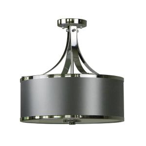 3light chrome - Semi Flush Mount Lighting