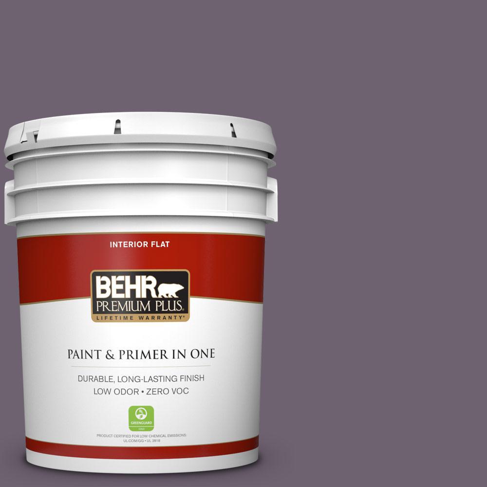1e0c257ba95bc  670F-6 Vintage Grape Flat Zero VOC Interior Paint and Primer in One