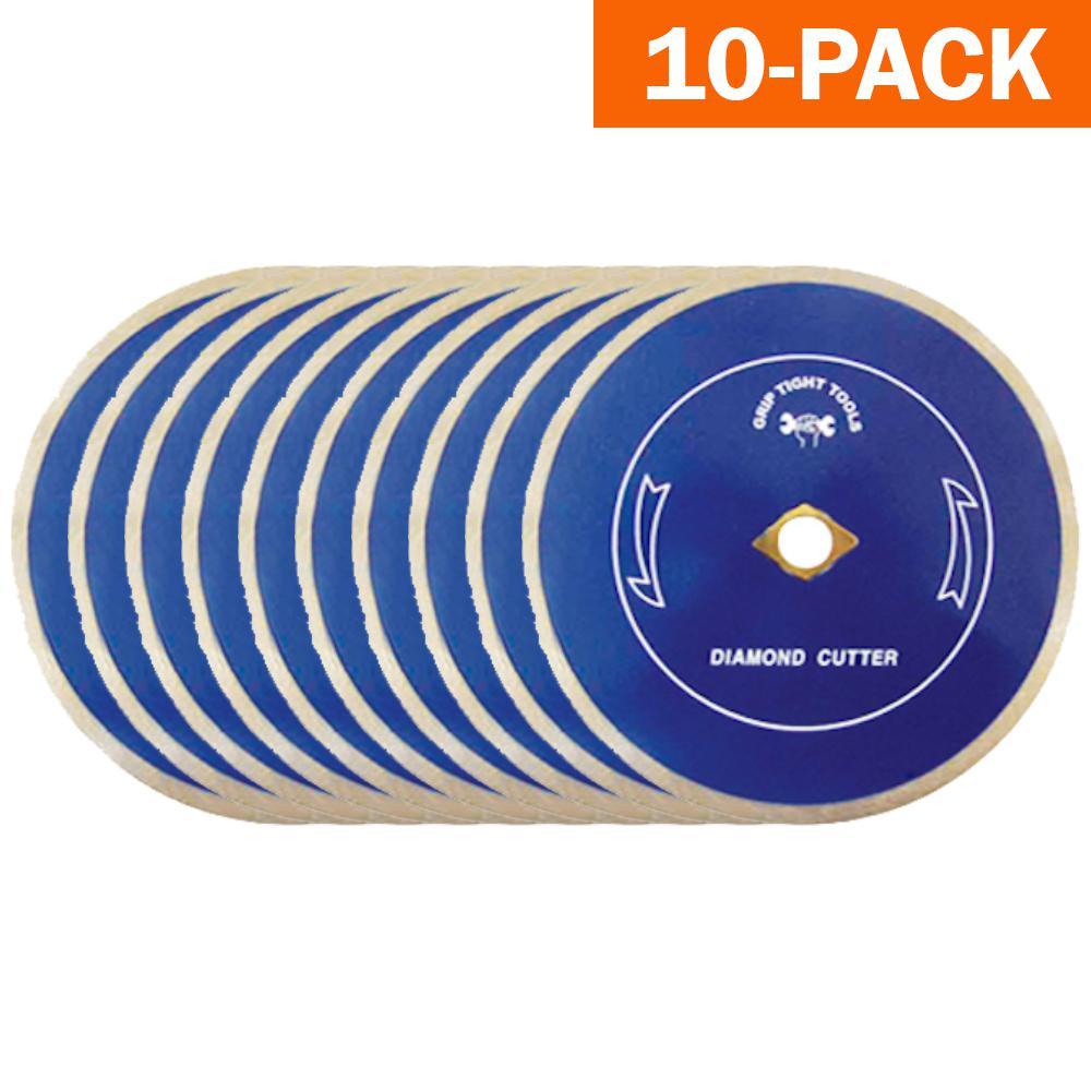 4-1/2 in. Premium Continuous Rim Tile Cutting Diamond Blade (10-Pack)