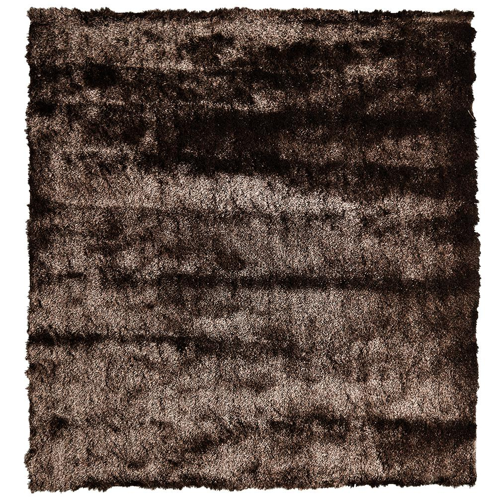 So Silky Chocolate 10 ft. x 10 ft. Square Area Rug