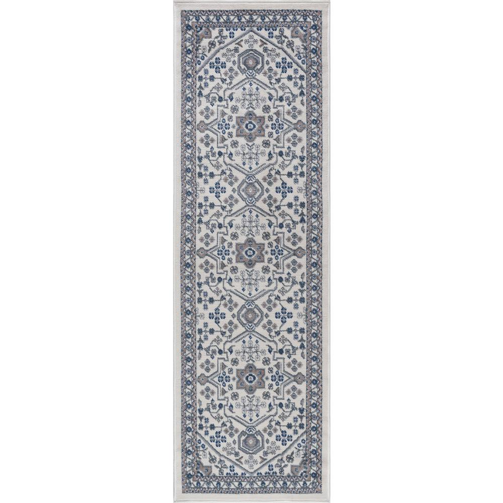 Hampton Traditional Cream 2 ft. x 7 ft. Runner Rug